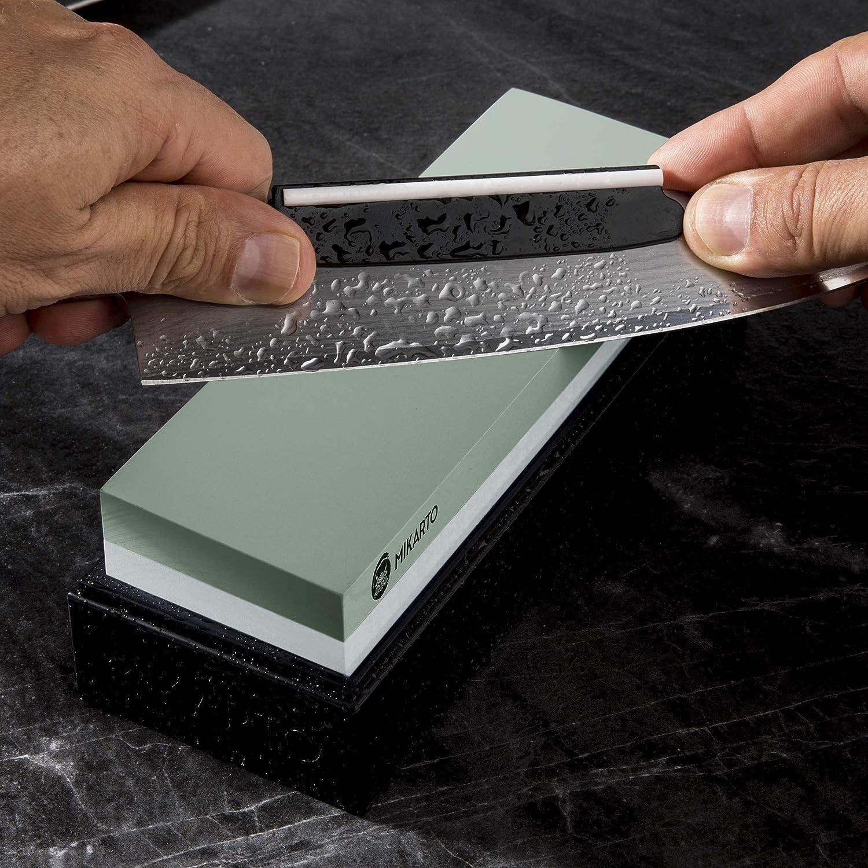 C/ómodo de usar 3 piezas 80//600//1000 Piedra de afilar de piedra de afilar de esmeril Piedra de afilar chapada en titanio No requiere aceite ni agua Piedra de afilar