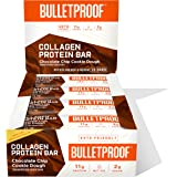 Collagen Protein Bars, Chocolate Chip Cookie Dough, 11g Protein, 12 Pack, Bulletproof Grass Fed Healthy Snacks, Made with MCT