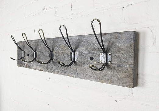 Amazon.com: Perchero de pared vintage rústico – Auténtico ...