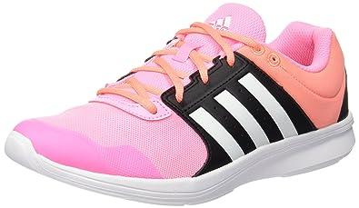 newest 2f12e 8eb83 adidas Essential Fun 2, Damen Laufschuhe, Rosa  Weiß  Schwarz (Briros