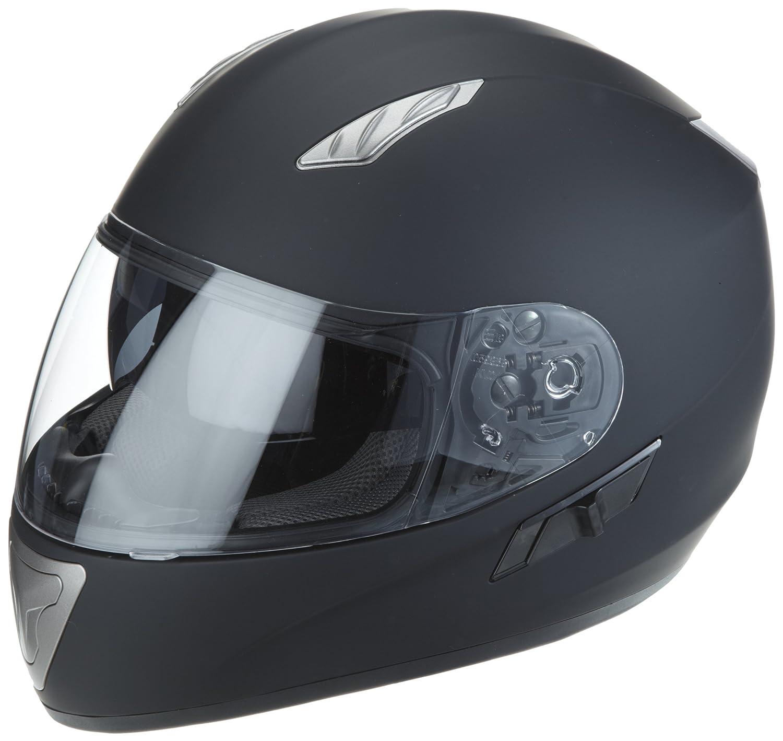 Amazon.es: Protectwear Casco de moto mate negro con visera solar integrada H520-ES Tamaño S