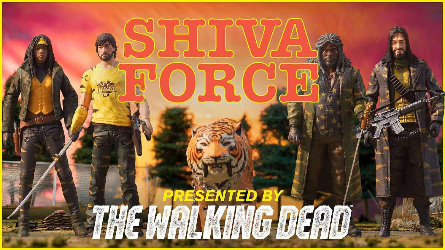 SDCC 2017 Skybound Exclusive The Walking Dead Shiva Force Commander Rick Figure McFarlane Toys