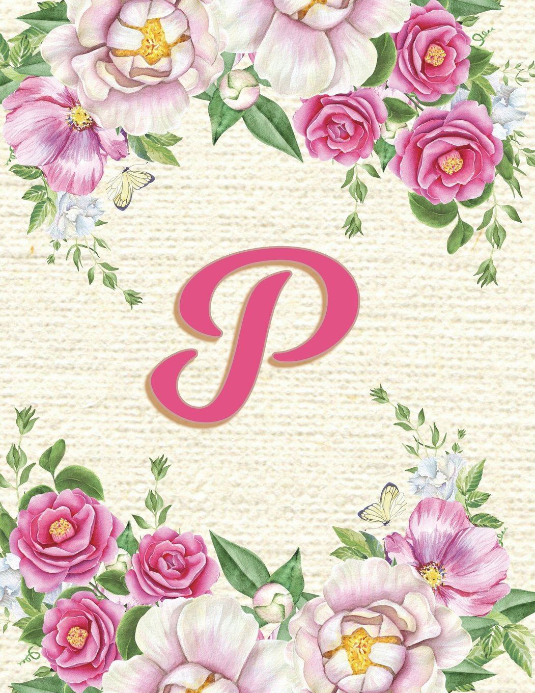 """Read Online P: Pink Floral Monogram Diary, Journal, Composition Notebook for Women - 8.5""""x 11"""" - Notebook with 150 Lined pagesPink Floral Monogram Diary with ... Lined pages (Monogram Journals) (Volume 16) PDF"""