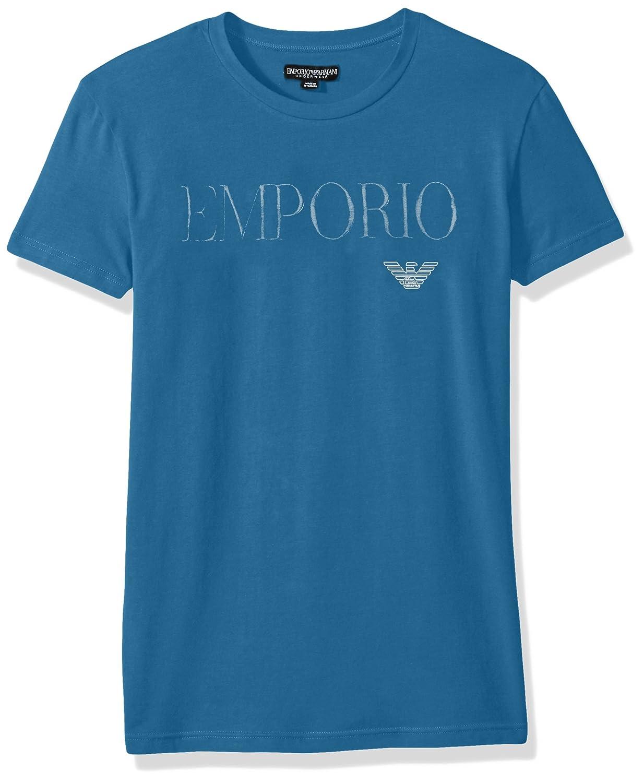 Emporio Armani Mens Standard Megalogo Crew Neck T-Shirt 111035 7A516