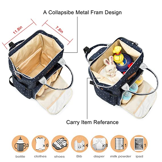 81a3702a9a1c Changing Baby Nappy Bag Diaper Backpack