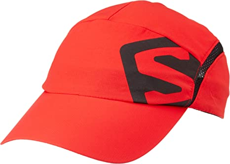SALOMON Cap XA Cap - Gorra, Unisex Adulto, Rojo(Fiery Red/Black ...
