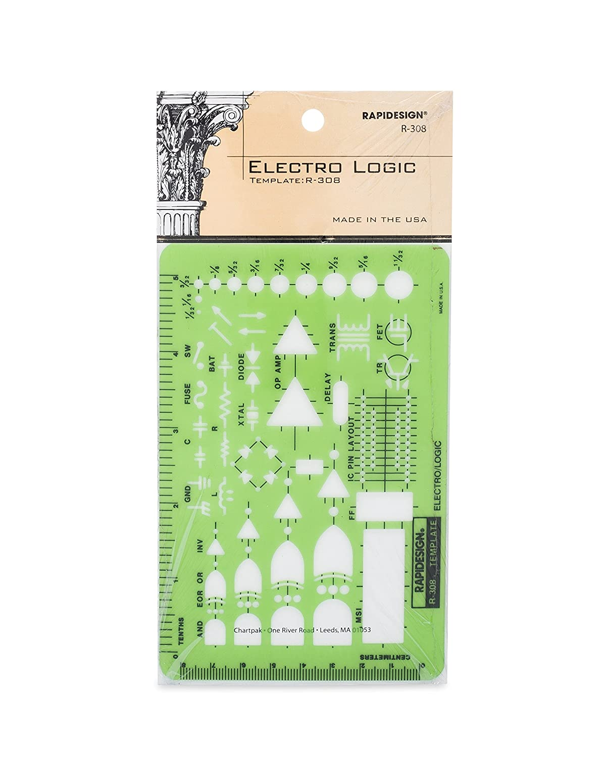 Rapidesign Electro Logic Symbol Template 1 Each R308 Digital Circuit Symbols View Diagram Drafting Tool Sets Office Products