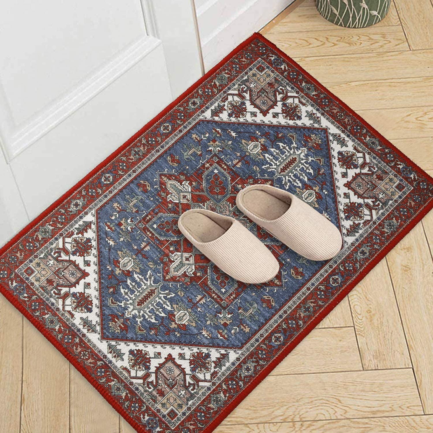 Soft Area Rugs 2' x 3' Indoor Carpet Washable Machine-Made Door Mat with Bohemian Nursery Rug Floor Mat for Living Room Dining Room Kids Teens Home Decor Rugs