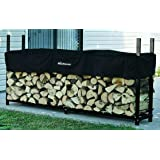 The Woodhaven 8 Foot Firewood Log Rack with Cover