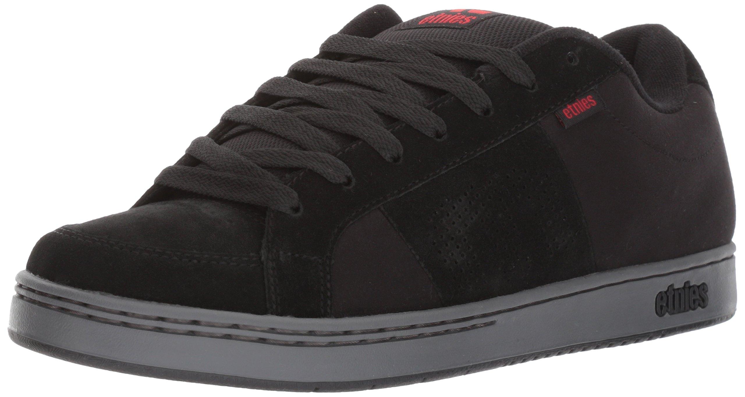 Etnies Mens Men's Kingpin Skate Shoe, Black/Charcoal/red, 7 Medium US