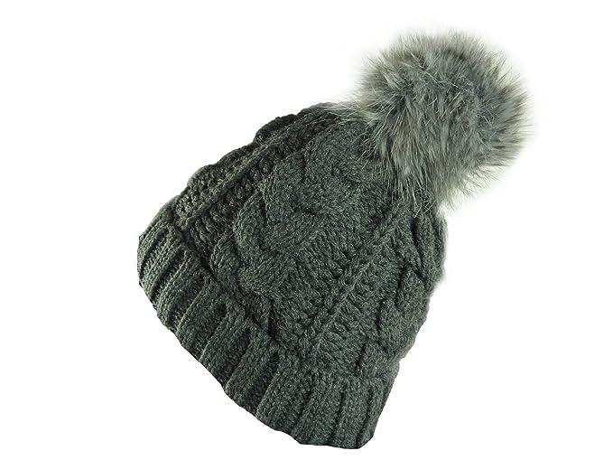 Veilo caldo donna e uomo berretto lavorato a maglia con pon-pon ... b027cdc09599