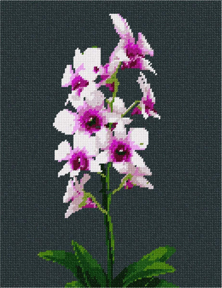 pepita Orchid Plant Needlepoint Kit
