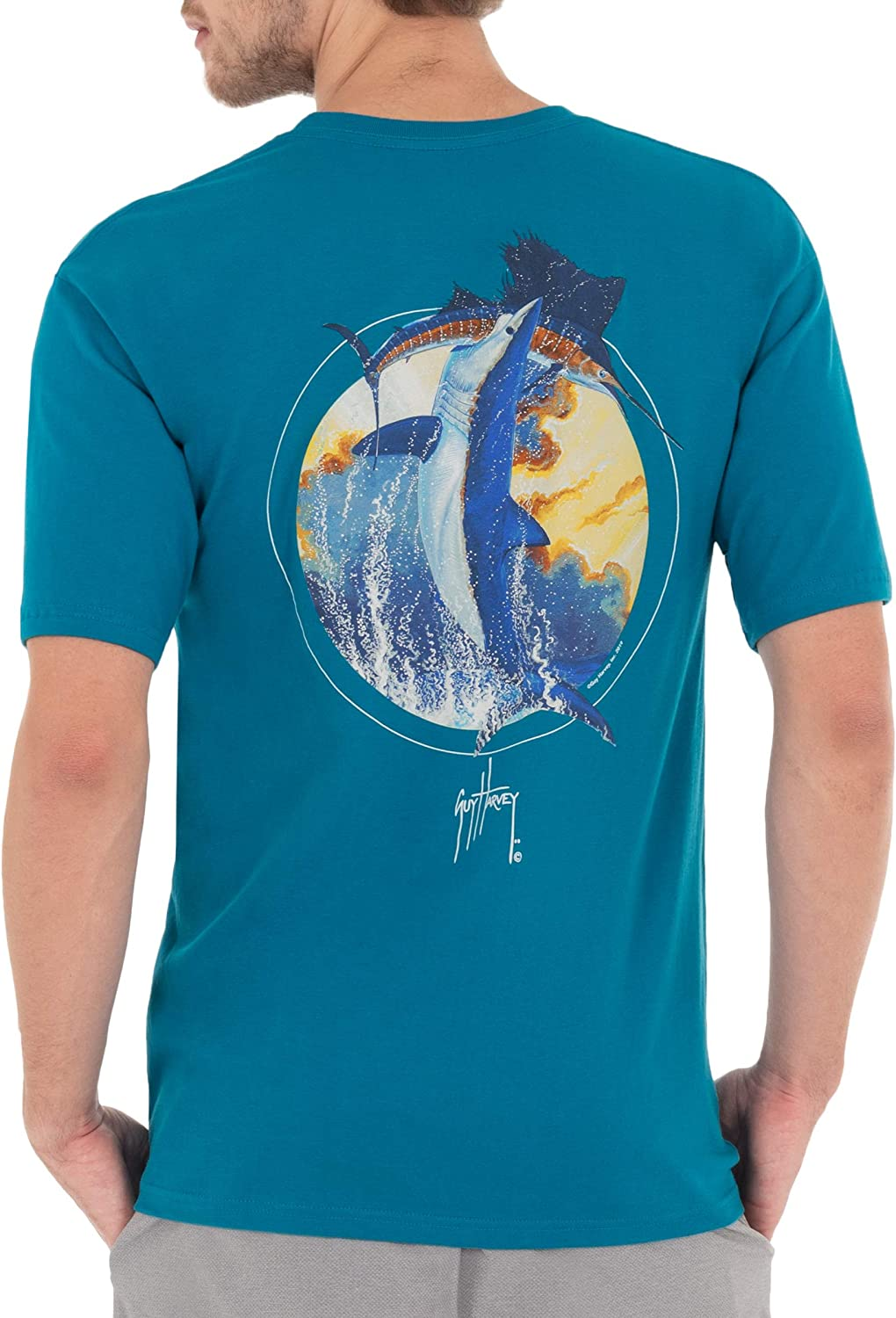 Guy Harvey Men's Shark Collection Short Sleeve Pocket T-Shirt