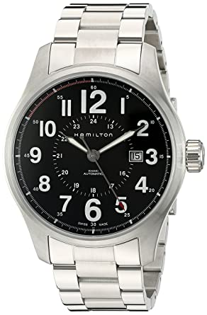 a7dca6246 Image Unavailable. Image not available for. Color: Hamilton Men's H70615133 Khaki  Field Officer ...
