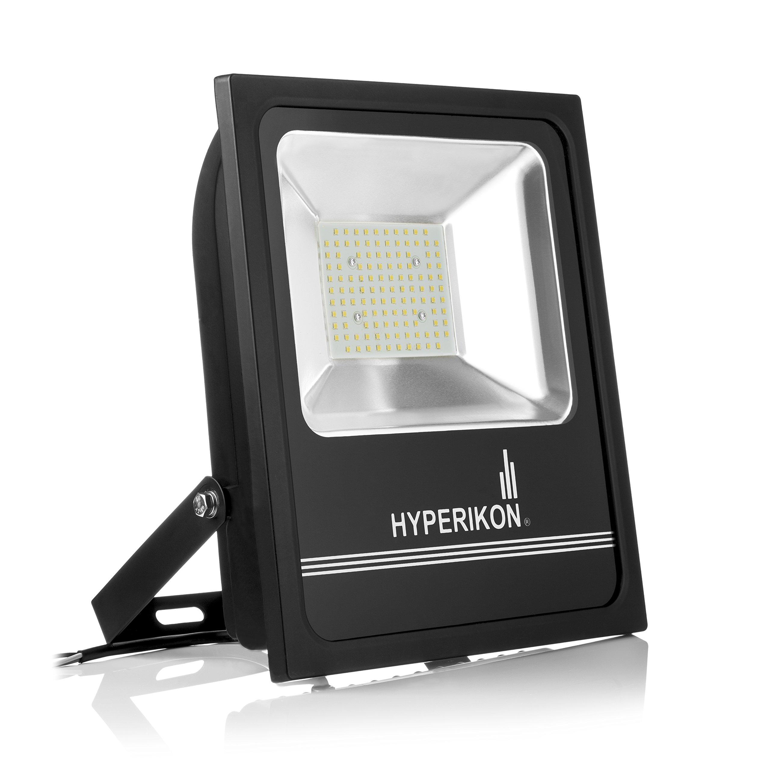 HyperSelect 100W LED Flood Light, (500 Watt Equivalent), 10000 lumen, 5000K Crystal White, Super Bright Outdoor LED Floodlight, UL, 100-277v, IP66 Waterproof