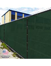 Windscreen4less Heavy Duty Privacy Screen Fence in Color Solid Green 6' x 50' Brass Grommets w/3-Year Warranty 150 GSM