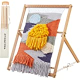 """WILLOWDALE 25.2""""H x 19.3""""W Weaving Loom with Stand Wooden Multi-Craft Weaving Loom Arts & Crafts, Extra-Large Frame…"""