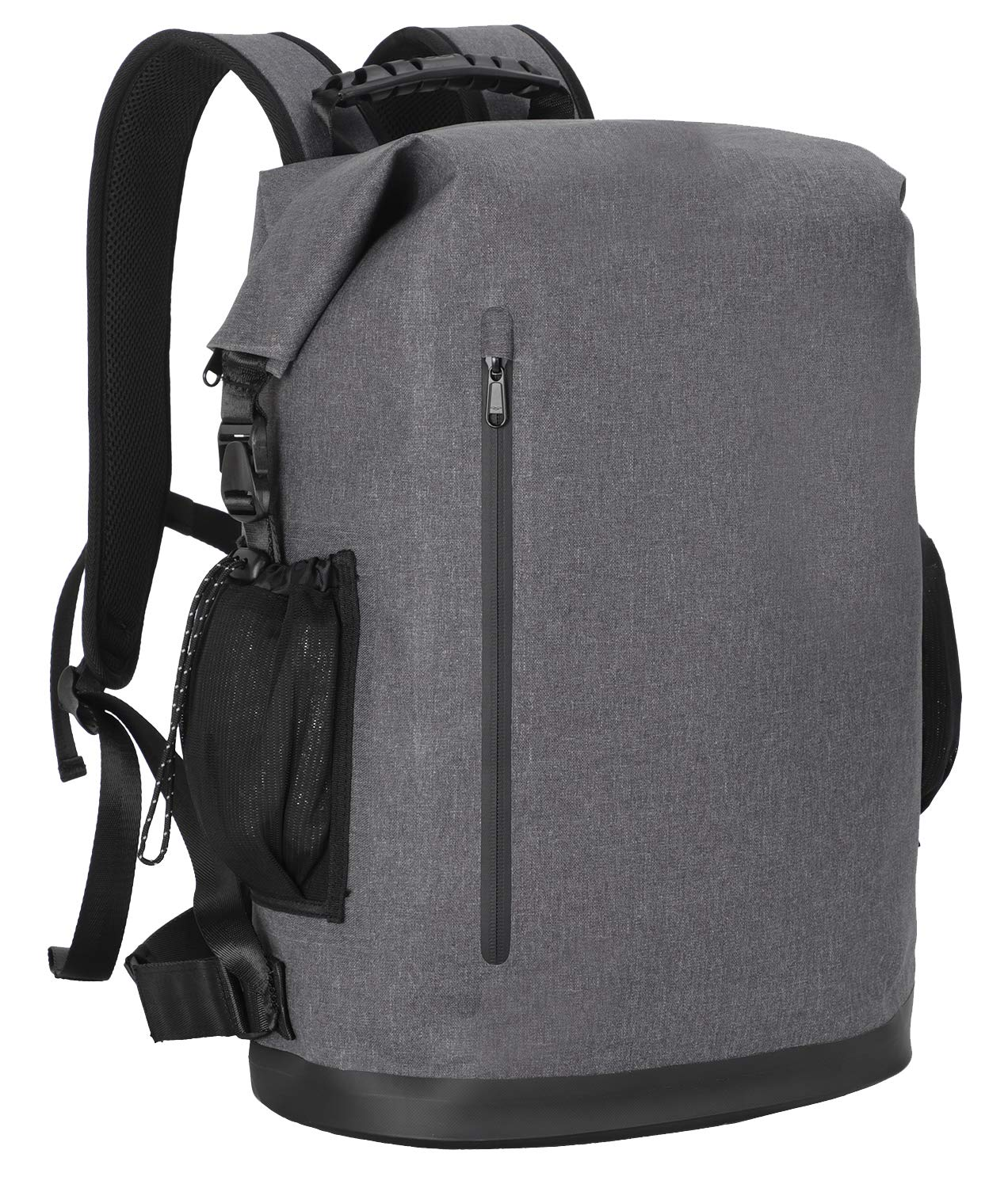 MIER Roll-Top Waterproof Backpack for Men and Women Heavy Duty Dry Bag, Multi Pockets, 30L for Travel, Hiking, Beach, Swimming, Fishing, Kayaking, Camping, Boating, Floating, Grey by MIER