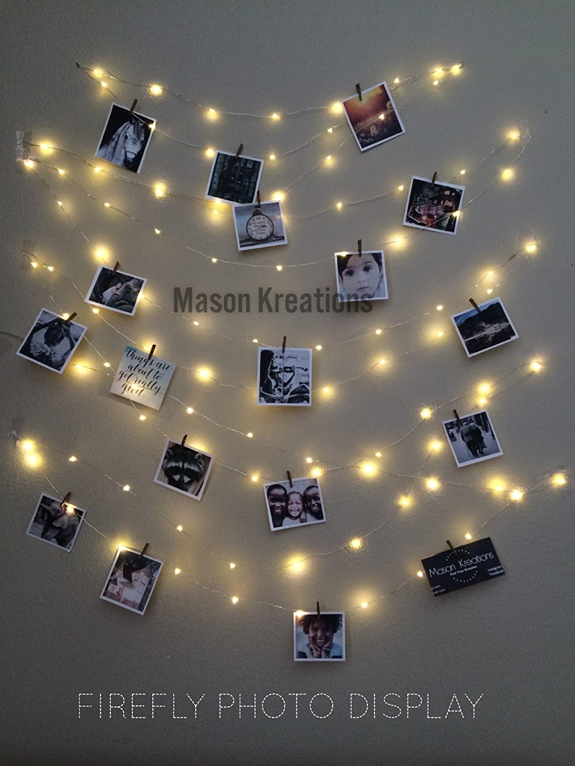 Mason Fairy Lights Rose Gold Wire - Battery Operated 100 LED warm white  decorative mini bulbs for ...