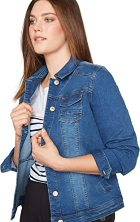 Women/'s Classic Plus Size Denim Jacket