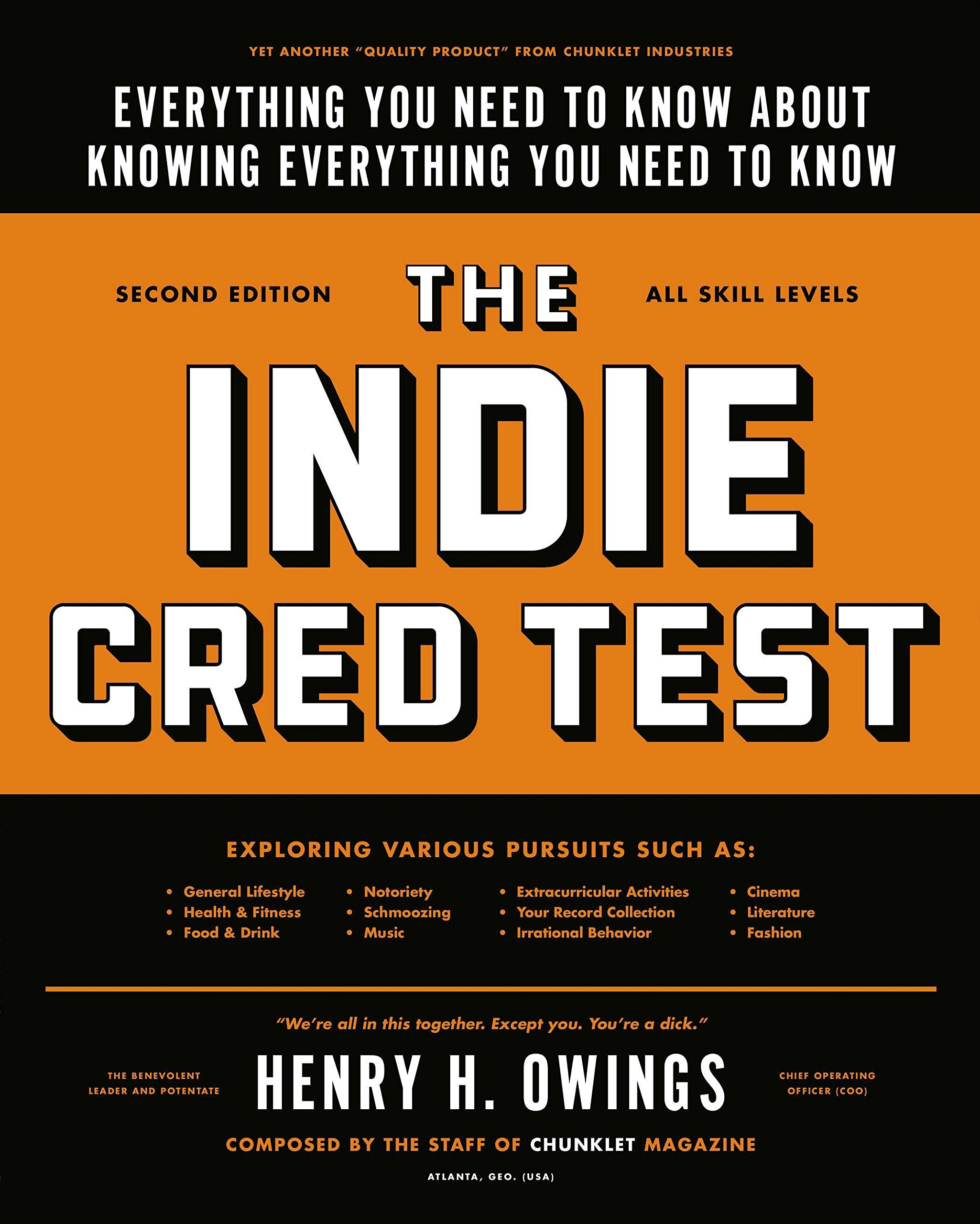 Download The Indie Cred Test: Everything You Need to Know About Knowing Everything You Need to Know pdf epub