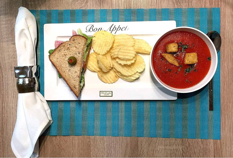 Set Soup and Sandwich Serving Set Sushi Plates Set 2-Pc Sandwich and Soup
