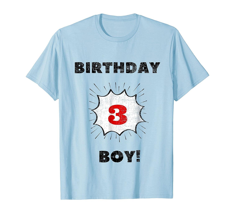 Amazon Kids Birthday Boy Three Year Old T Shirt Clothing