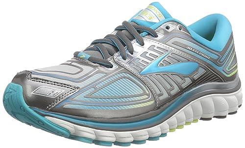 Brooks Glycerin 13 - Zapatillas de Entrenamiento Mujer, Gris - Grau (MetallicCharcoal/BlueBird