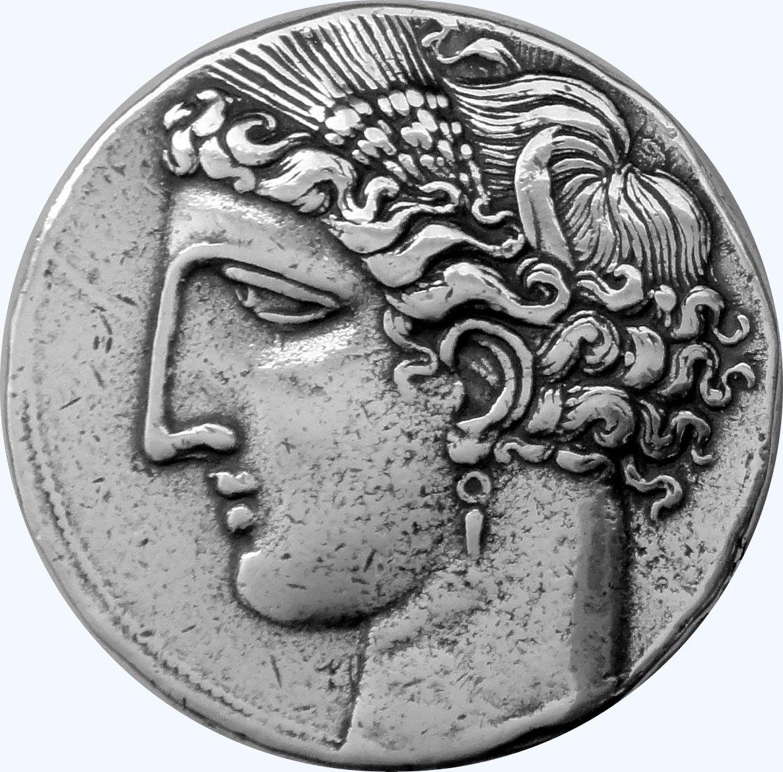 Amazon Greek Mythology Tanit Pegasus Coin Sky Goddess