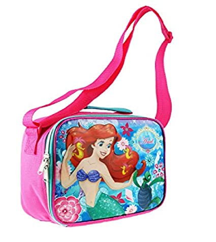 2405d0971a6f Image Unavailable. Image not available for. Color  2018 Disney The Little  Mermaid Ariel 9.5 quot  Blue   Pink Insulated Lunch Bag