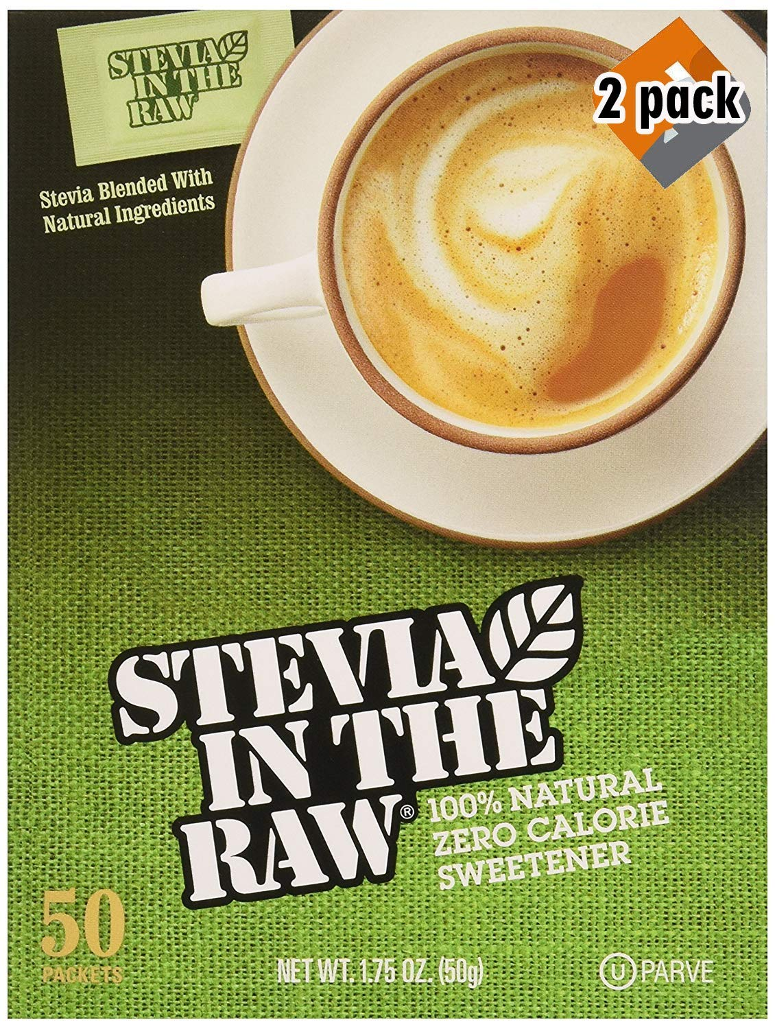Stevia In The Raw, 50 Count Box 2 Pack