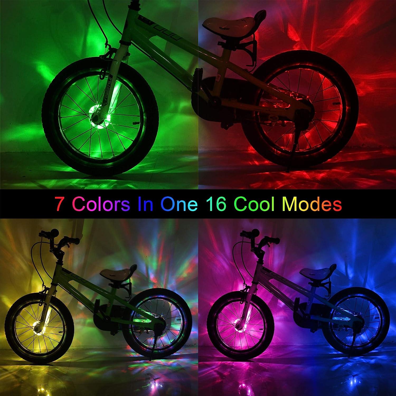 Bike Lights Wheel Tire Valve/'s Bike Accessories 20 LED Bycicle Light  US NEW