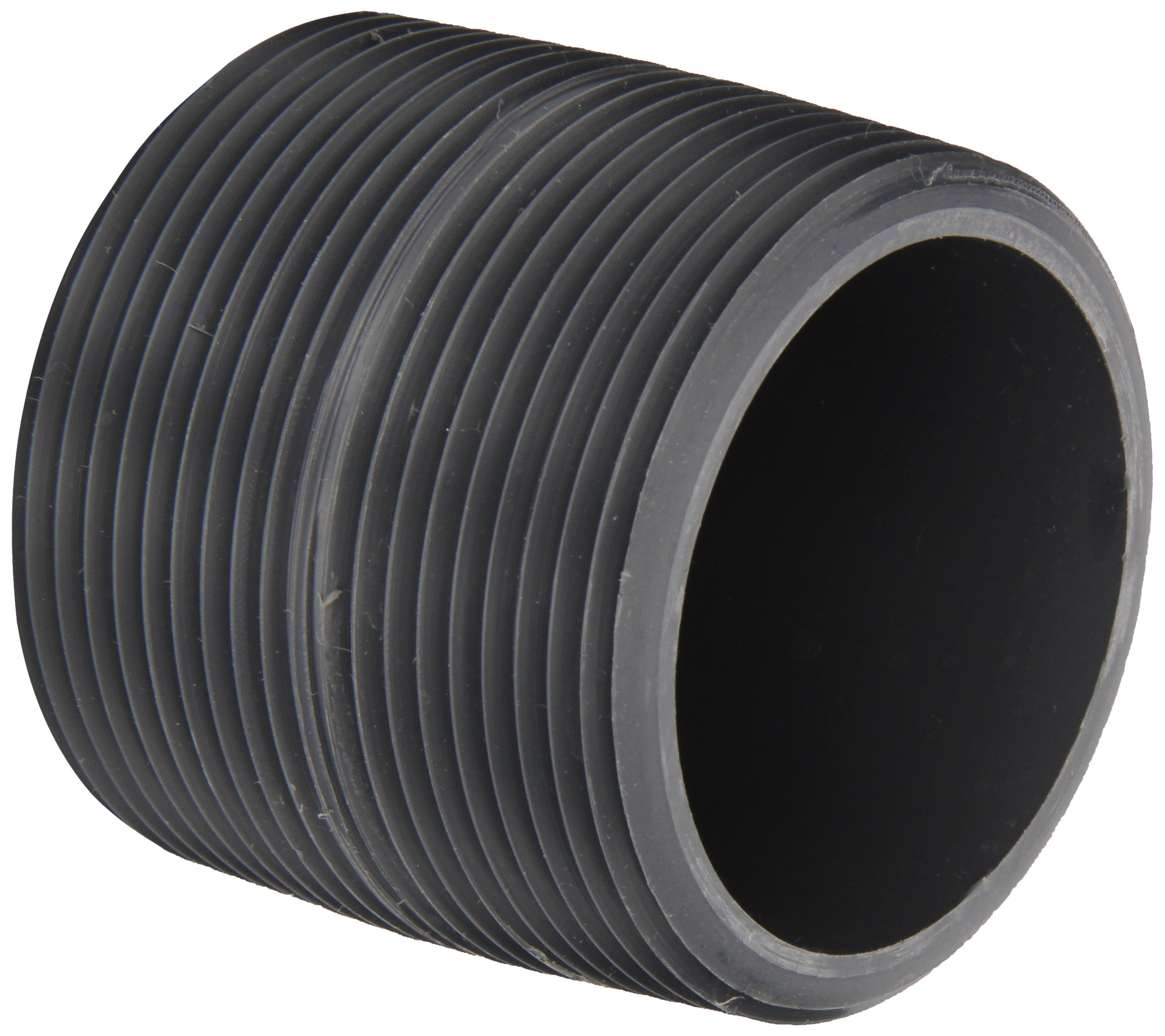 Pvc pipe fitting nipple schedule gray quot npt male