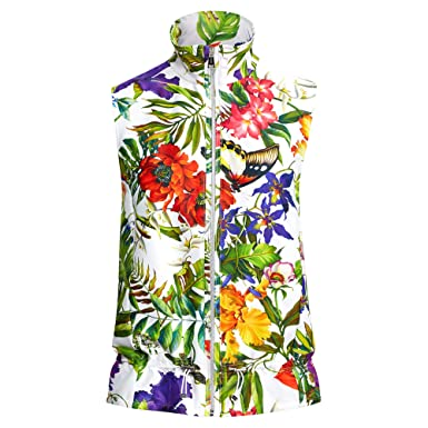 643cfd5f69 Image Unavailable. Image not available for. Color  Ralph Lauren Polo Golf Women s  Sleeveless Sateen Jacket Vest Floral Print XL