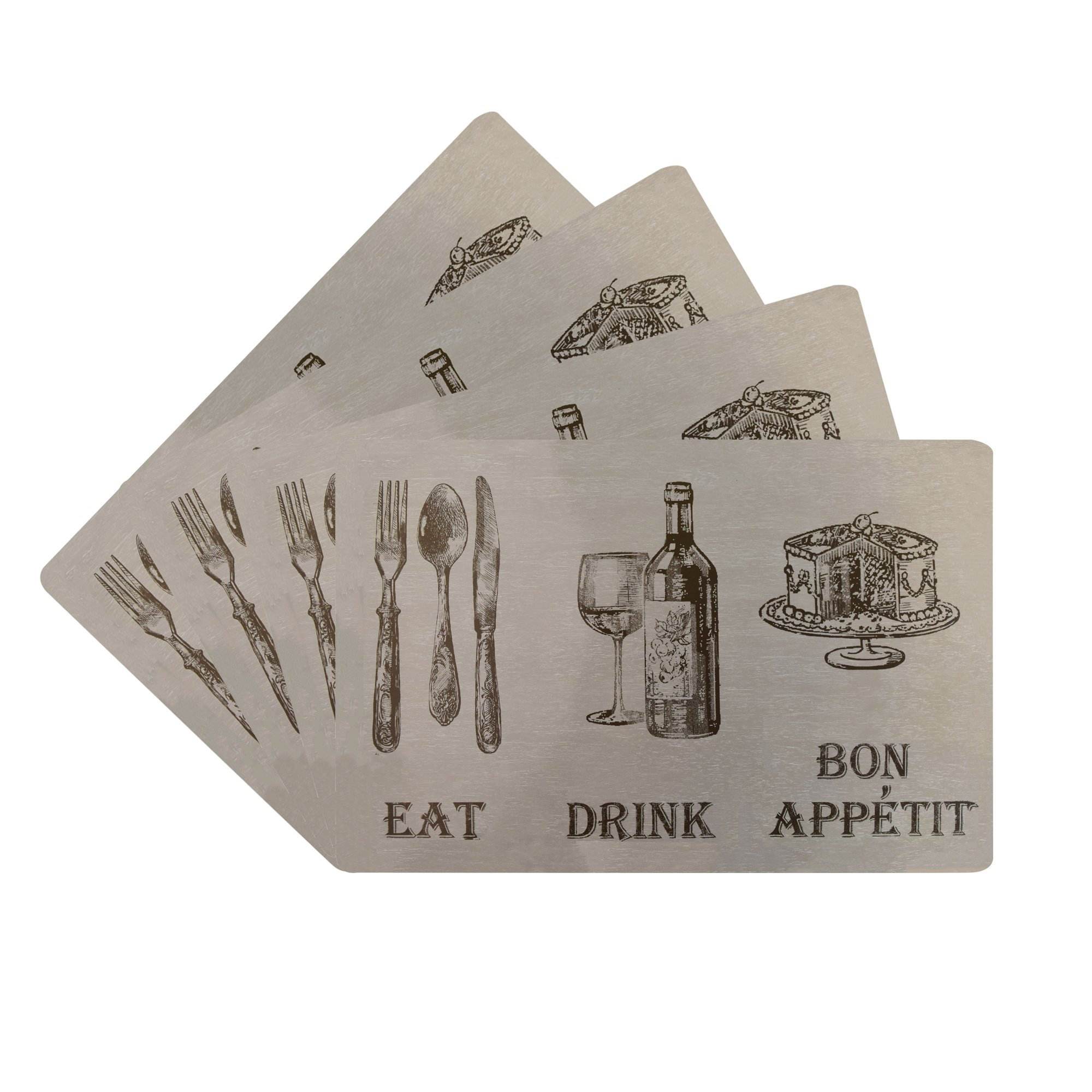 Benson Mills Eat Drink Cork Placemat, Linen, (Set of 4)