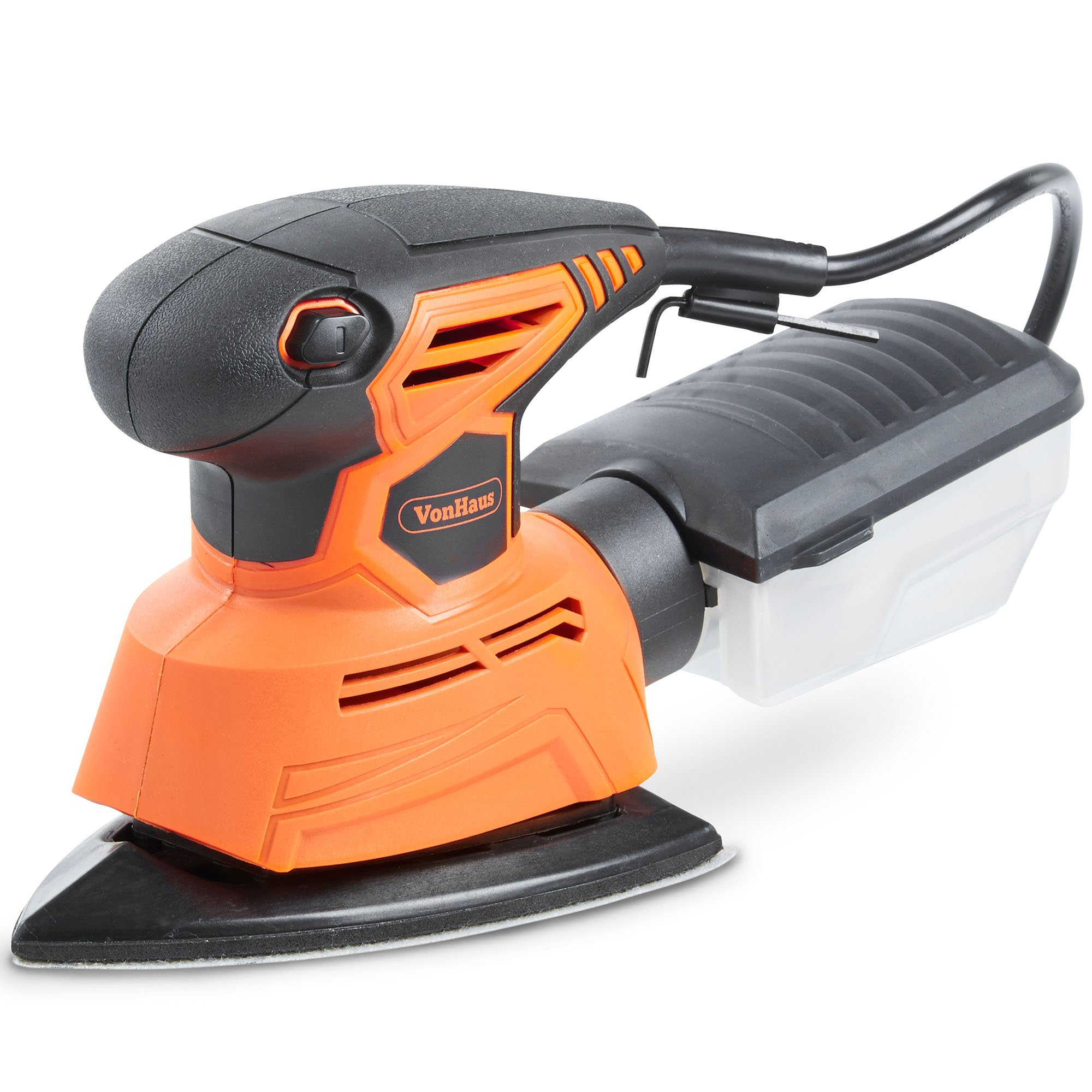 VonHaus 1.1A 2 in 1 Sheet & Detail Sander - 14000 RPM with 6 Sanding Sheets Included - Multi-Use, Compact Lightweight Design with Dust Extraction System and 6ft Power Cord by VonHaus (Image #7)