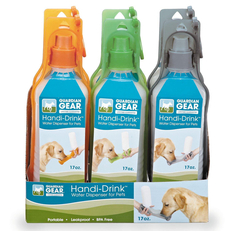 Guardian Gear Plastic Handi-Drink Regular Displays — Convenient And Versatile Water Bottles For Dogs - 17-Ounce, Assorted