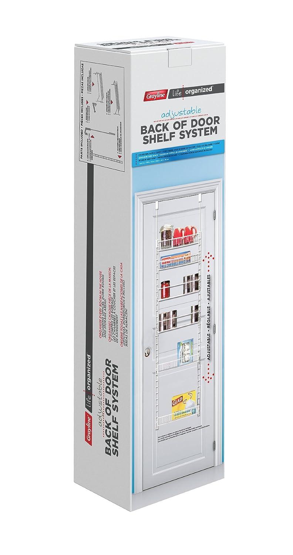 Grayline 411246 Adjustable Back of Door Shelf System, White