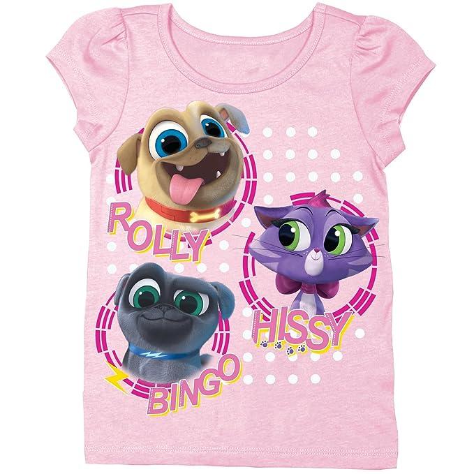 c1994bac97d8 Disney Toddler Girls' Puppy Dog Pals Puff Short Sleeve T-Shirt, Light PK