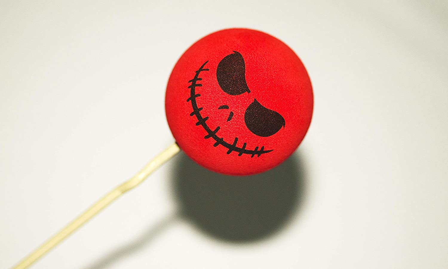 MMTH 1x Funny Halloween Skull Car Antenna Topper Aerial Ball Decoration Toy Red
