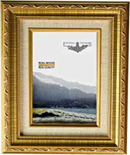 Amazoncom The Rusty Roof Scrolled Gold Picture Frame Solid Wood