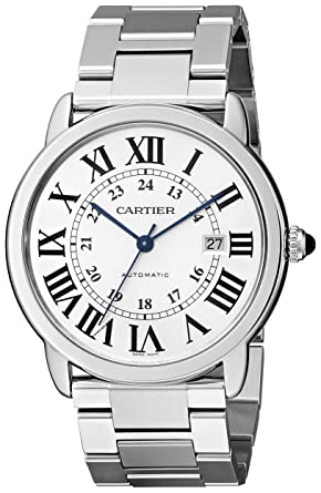 amazon com cartier men s w6701011 ronde solo stainless steel watch