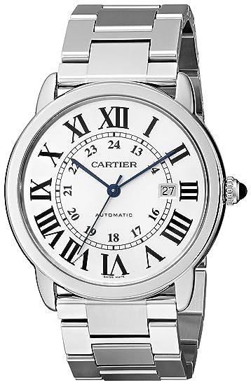 Cartier Ronde Solo - Reloj (Reloj de Pulsera, Masculino, Acero Inoxidable, Acero