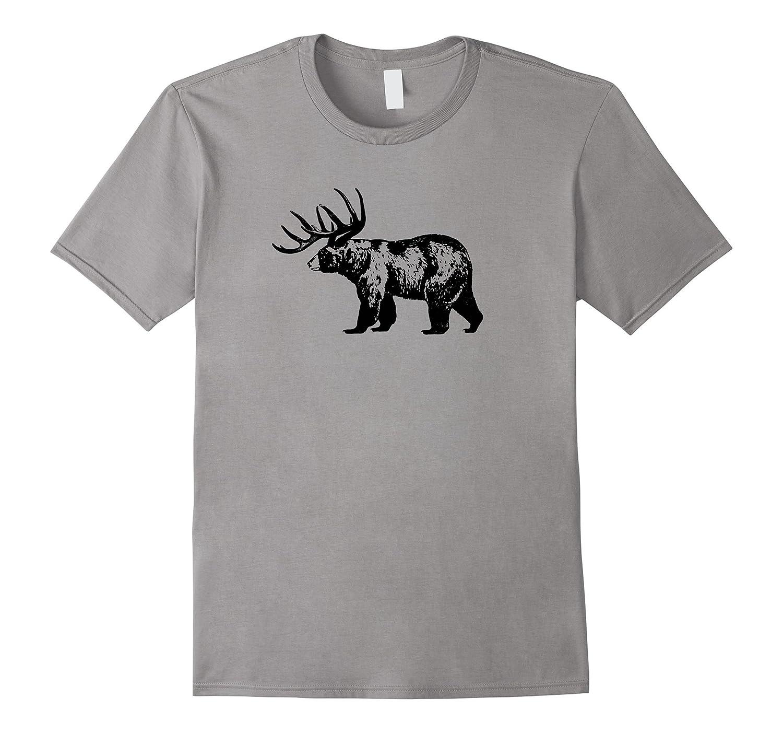 BEER - The Bear Deer Drinking Tee-TH