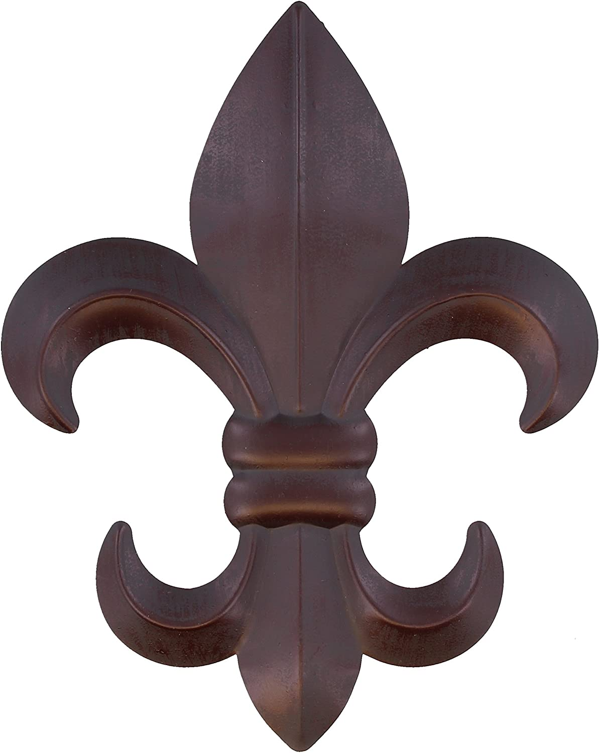 "10"" Metal Fleur De Lis Wall Plaque / Art with hanger - Rustic Creole Decor"