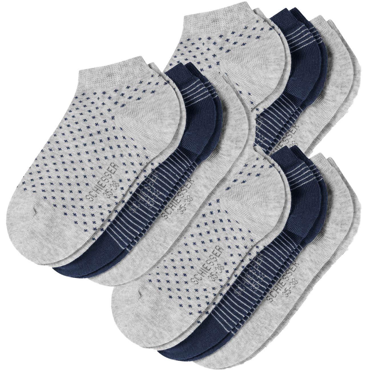 Schiesser Damen Sneaker Socken Cotton 9er Pack: