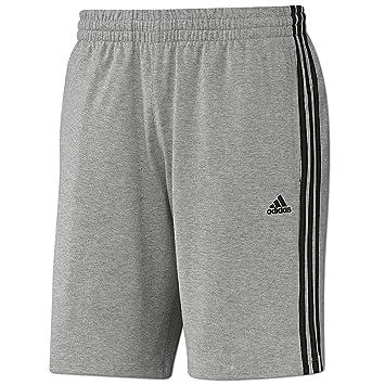 982a97c0774033 Adidas ESS 3S Short Mens Herren ClimaLite Sweat Shorts Kurze Hose Grau