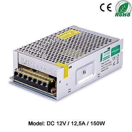 Liqoo 12.5A 150W Transformador LED Trafo del Conductor Elétrico Fuente de Alimentación LED Driver AV