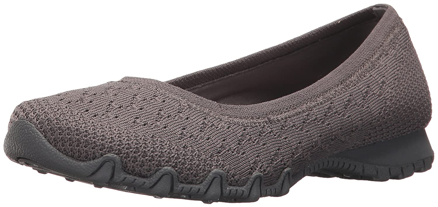 Charcoal Skechers Women's Bikers-Witty Knit Ballet Flat