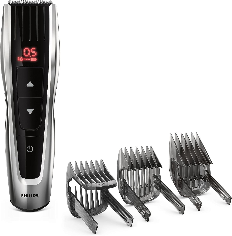 Philips HAIRCLIPPER Series 7000 HC7460/13 cortadora de pelo y maquinilla Negro, Plata Recargable - Afeitadora (Negro, Plata, Rectángulo, 0,5 mm, 4,2 cm, 4,1 cm, Acero inoxidable): Amazon.es: Hogar